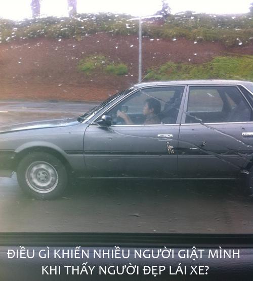 Tại sao ảnh cô gái lái ô tô khiến người xem giật mình?