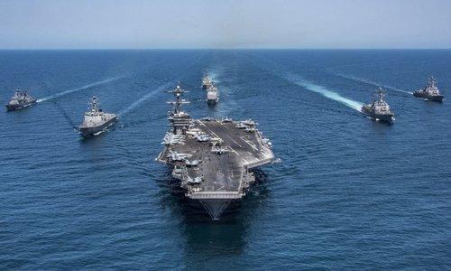 Nhóm tác chiến tàu sân bay Mỹ tuần tra gần Nhật Bản năm 2017. Ảnh: US Navy.
