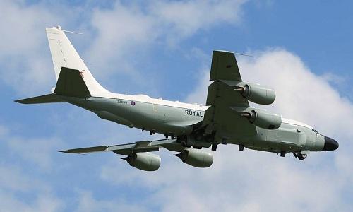 Trinh sát cơ RC-135W của không quân Anh. Ảnh: Aviationist.