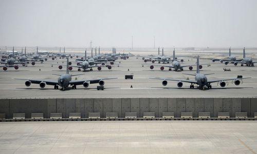 Lực lượng Mỹ triển khai tại căn cứ Al Udeid của UAE. Ảnh: USAF.