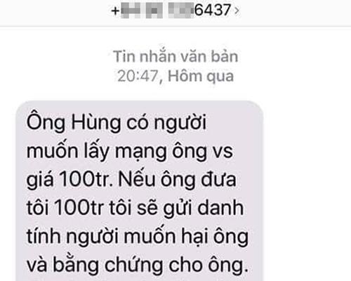 Tin nhắn gửi đến ông Hùng.