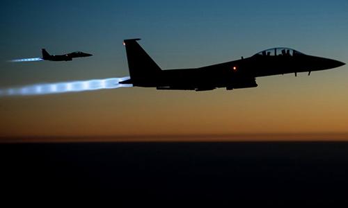 Tiêm kích F-15E của không quân Mỹ làm nhiệm vụ tại Syria và Iraq. Ảnh: US Air Force.