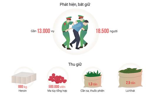 Ma tuý tổng hợp từ Tam giác vàng vào Việt Nam tăng đột biến - 2
