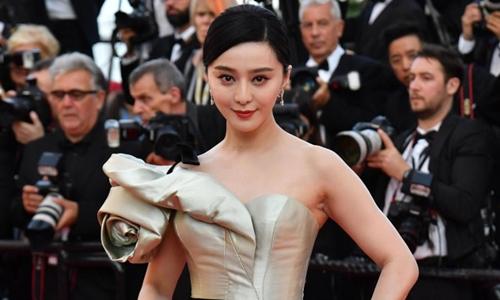 Phạm Băng Băng tại liên hoan phim Cannes ở Pháp hồi tháng 5. Ảnh: AFP.