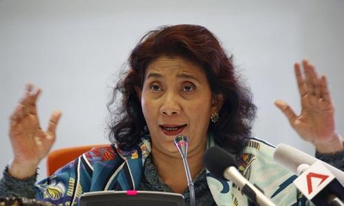 Bộ trưởng Hàng hải và Nghề cá Indonesia Susi Pudjiastuti. Ảnh: Reuters.