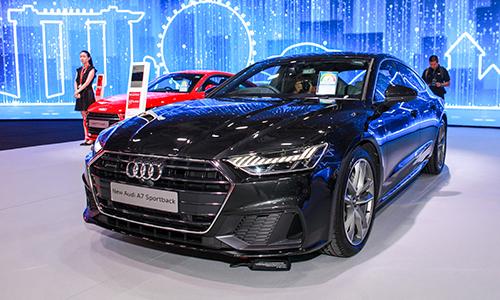 Audi A7 Sportback mới trong sự kiện riêng của tại Singapore. Ảnh: Lương Dũng.