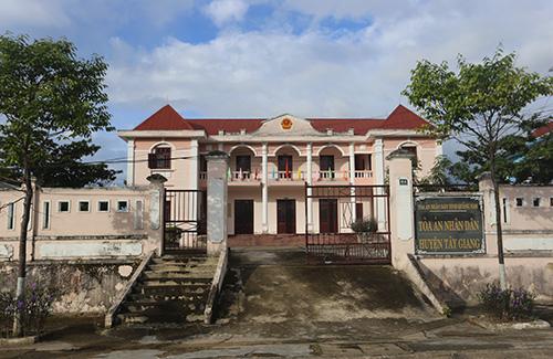 Trụ sở Toàn án nhân huyện Tây Giang. Ảnh:Đắc Thành.