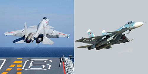 Shenyang J-15 là bản sao có cải tiến từ tiêm kích hạm Su-33. Ảnh: Popular Mechanics.