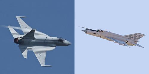 Tiêm kích FC-1/JF-17 với đôi cánh tam giác đặc trưng của MiG-21, phần đuôi và mũi của F-16. Ảnh: Popular Mechanics.
