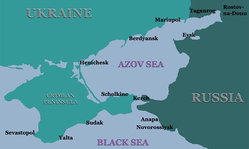 Vị trí Biển Azov. Đồ họa: Madhouse News.