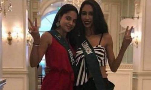 Hoa hậu Lebanon bị tước danh hiệu vì chụp ảnh với hoa hậu Israel