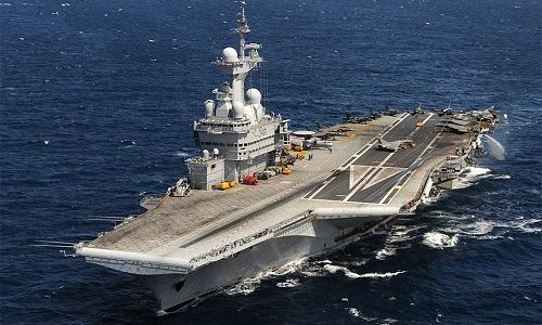 Tàu sân bay Charles de Gaulle của hải quân Pháp. Ảnh: AFP.
