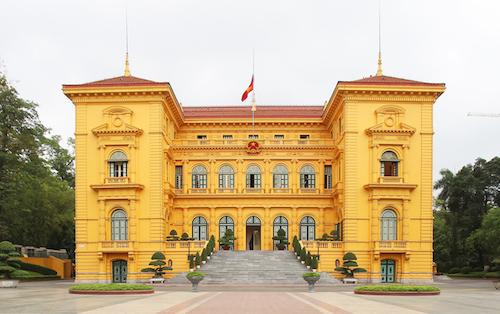 Phủ chủ tịch, nơi làm việc của Chủ tịch nước. Ảnh: Ngọc Thành