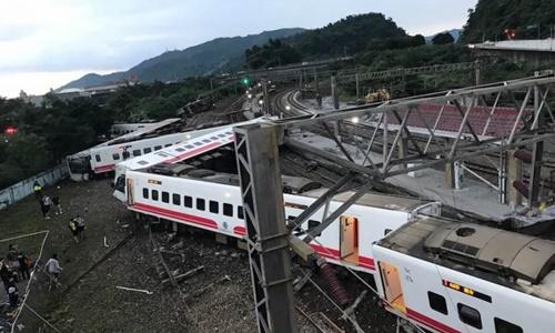 Tàu hỏa trật đường ray ở Đài Loan, ít nhất 17 người thiệt mạng