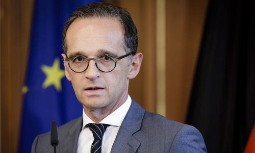 Ngoại trưởng Maas trong một cuộc họp báo hồi tháng 8. Ảnh: Reuters.