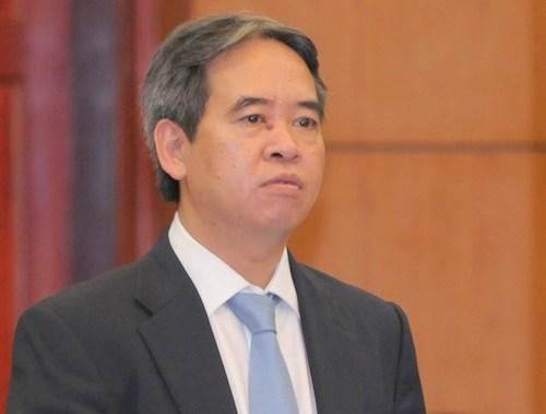 Thống đốc Nguyễn Văn Bình phát biểu trước Quốc hội năm 2014. Ảnh: Q.H