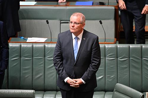 [Caption]Thủ tướng Australia Scott Morrison đưa ra lời xin lỗi quốc gia tới các nạn nhân của nạn lạm dụng tình dục trẻ em trong một bài phát biểu tại quốc hội.
