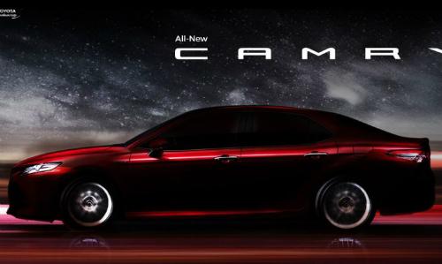Ảnh teaser Camry 2018 sắp ra mắt tại Thái Lan. Ảnh: Toyota.