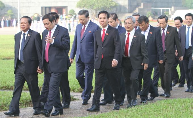 Lãnh đạo cấp cao trước giờ khai mạc kỳ họp Quốc hội