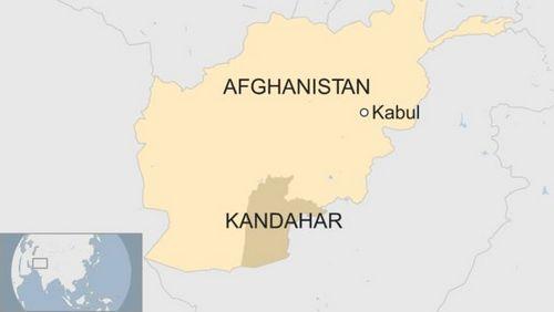 Vị trí tỉnh Kandahar của Afghanistan. Đồ họa: BBC.