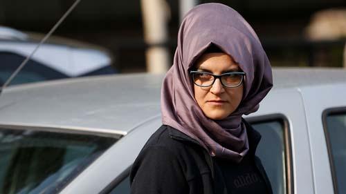 Hatice Cengiz, vợ chưa cưới của nhà báo Arab Saudi Jamal Khashoggi. Ảnh: AP.
