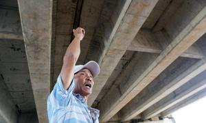 Nước nhỏ giọt ở cầu chui trên cao tốc Đà Nẵng - Quảng Ngãi