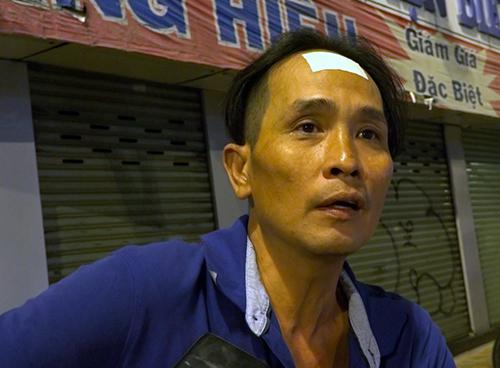 Anh Danh, nhân chứng kể lại vụ việc. Ảnh: Sơn Hoà.