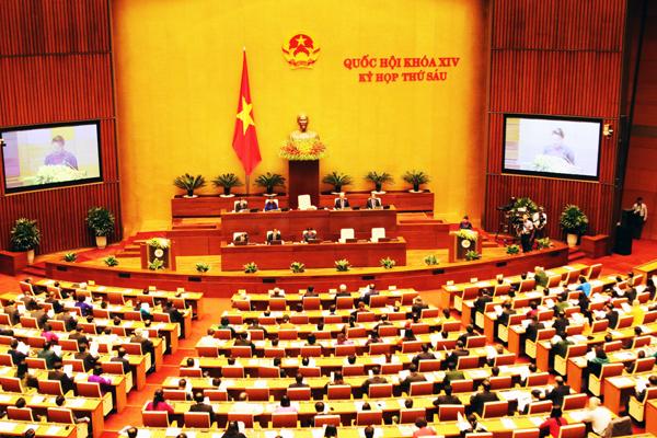 Phiên khai mạc kỳ họp thứ sáu, Quốc hội khoá XIV sáng 22/10. Ảnh: Giang Huy