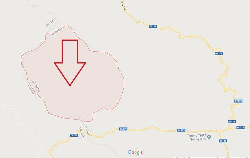 Xã Bản Rịa, huyện Quang Bình, tỉnh Hà Giang. Ảnh: Google map