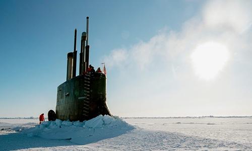 Tàu ngầm USS Connecticut tham gia tập trận Ice Exercise (ICEX) 2018. Ảnh: US Navy.