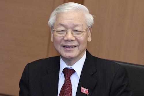 Tổng bí thư,Chủ tịch nước Nguyễn Phú Trọng bên hành lang Quốc hội ngày 23/10. Ảnh: Võ Hải