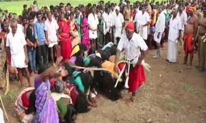 1.000 phụ nữ Ấn Độ xếp hàng chờ roi vọt trong nghi thức đuổi quỷ