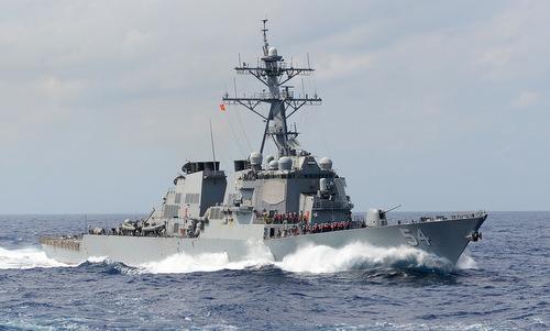 Tàu khu trục USS Curtis Wilbur tuần tra Thái Bình Dương hồi năm 2013. Ảnh: US Navy.