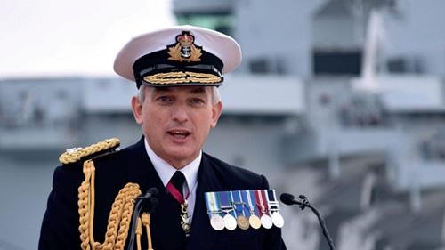 Tư lệnh Hải quân Hoàng gia Anh, Đô đốc Philip Jones. Ảnh: Defense.