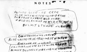 Bức mật thư khiến cảnh sát Mỹ không thể giải mã suốt 12 năm