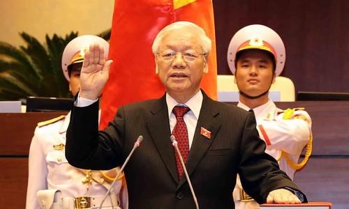 99,79% đại biểu bầu Tổng bí thư Nguyễn Phú Trọng làm Chủ tịch nước