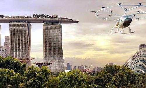 Singapore là đối tác tiếp theo của hãng taxi bayVolocopter. Ảnh: New Atlas.