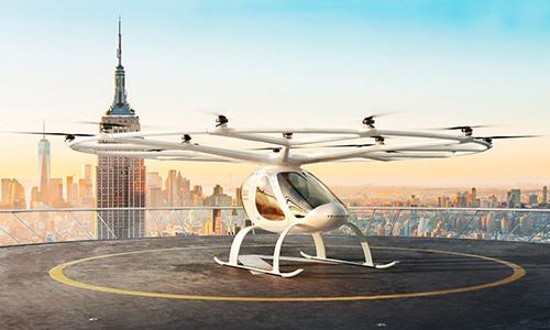 Thiết kế mô phỏng của mẫu taxi bay Volocopter 2X. Ảnh: New Atlas.
