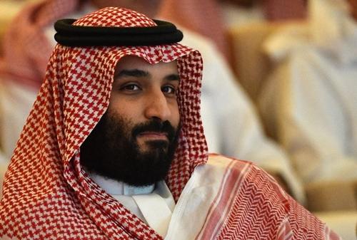 Thái tử Arab Saudi Mohammed bin Salman tại hội nghị đầu tư ởRiyadhhôm 23/10. Ảnh: AFP.