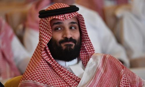 Thái tử Arab Saudi Mohammed bin Salman tại hội nghị đầu tư ởRiyadh ngày 23/10. Ảnh: AFP.