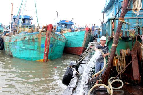 Đôi tàu lưới kéo hơn 800 CV của ông Minh. Ảnh: Nguyễn Khoa