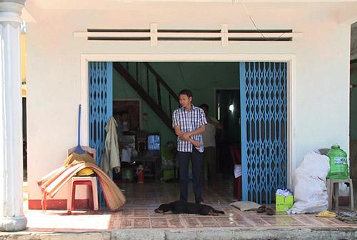 Căn nhà đội đo đạc số 8 thuê làm trụ sở tạm để đo đạc. Ảnh: Vinh Đỗ.