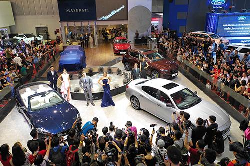 Khu trưng bày của Maserati sẽ tham gia Triển lãm ôtô Việt Nam