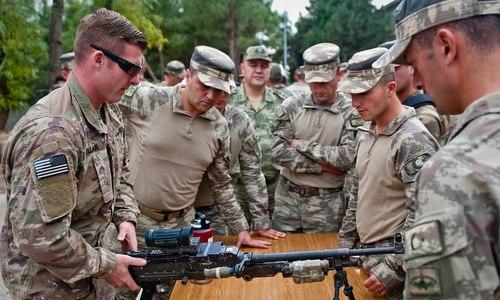 Lính Mỹ và Thổ Nhĩ Kỳ huấn luyện chung hồi tháng 9/2018. Ảnh: Army Times.