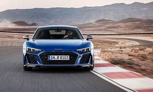 Audi R8 2019 thay đổi thiết kế đầu xe. Ảnh: Audi