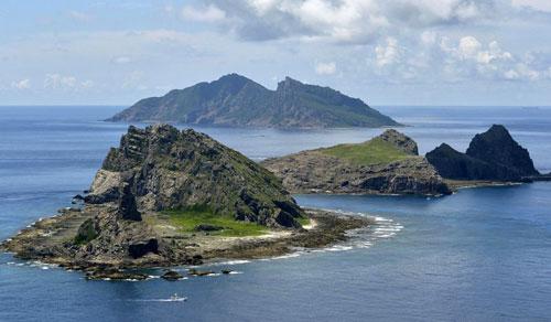 Nhóm đảo Senkaku/Điếu Ngư trên biển Hoa Đông trở thành tâm điểm tranh chấp lãnh thổ giữa Nhật và Trung Quốc. Ảnh: Reuters.
