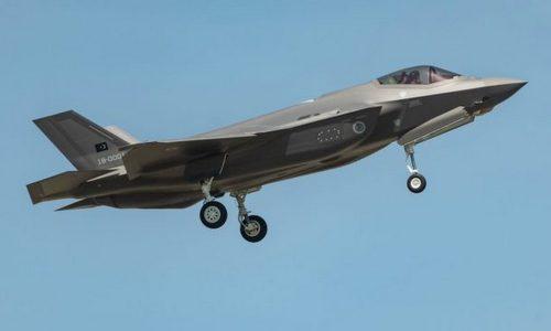 Tiêm kích F-35 cho Thổ Nhĩ Kỳ bay thử hồi tháng 5. Ảnh: Aviationist.