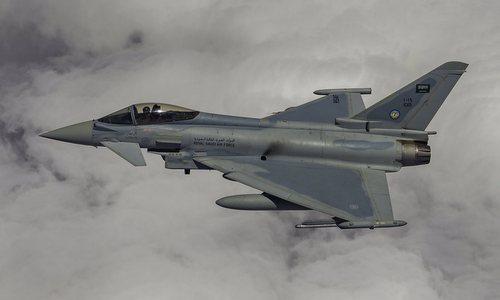 Tiêm kích Typhoon trong biên chế không quân Arab Saudi. Ảnh: Aviationist.