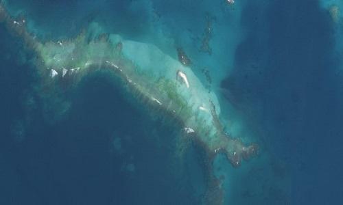 Đảo Đông sau khi siêu bão Walaka tràn qua. Ảnh: FWS.
