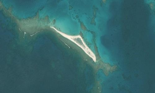Đảo Đông trong ảnh vệ tinh chụp hồi tháng 5. Ảnh: FWS.